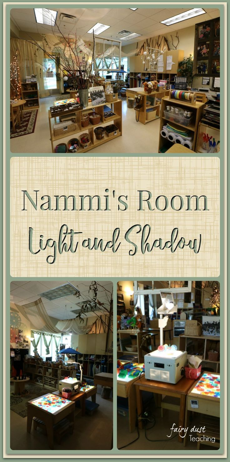 Take a peek inside a Reggio-Inspired classroom light and shadow area. Incredible loose parts ideas and stunning set up! Setting up the 3rd Teacher: A Peek into Nammi's Classroom   Fairy Dust Teaching   Reggio Inspired   Light and Shadow Play
