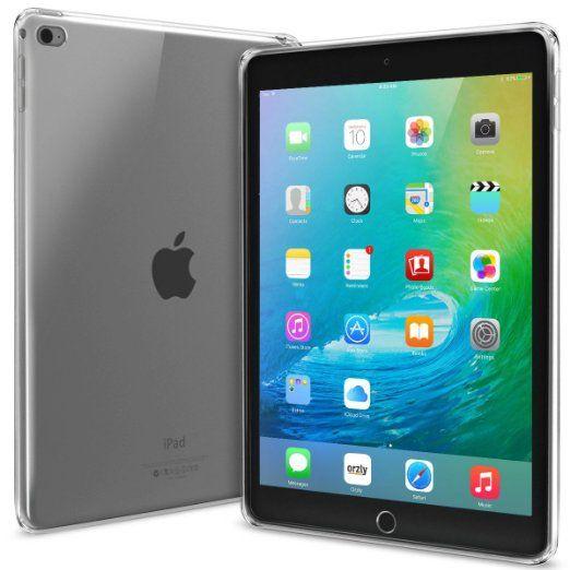 Orzly® - Coque FlexiCase pour Apple iPad AIR 2 Tablet (9,7 Pouces Modèle) - Coque Souple Haute Qualité - Emballage Premium - 100% TRANSPARENT