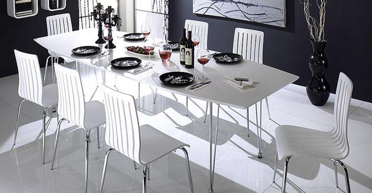 Nowoczesny biały stół rozkładany Kasa, Actona Company