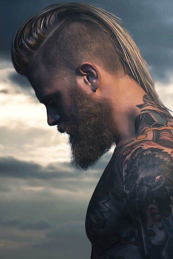 The Rundown On The Best Punk Hairstyles To Express Yourself Mohawk Hairstyles Men Viking Hair Long Hair Shaved Sides