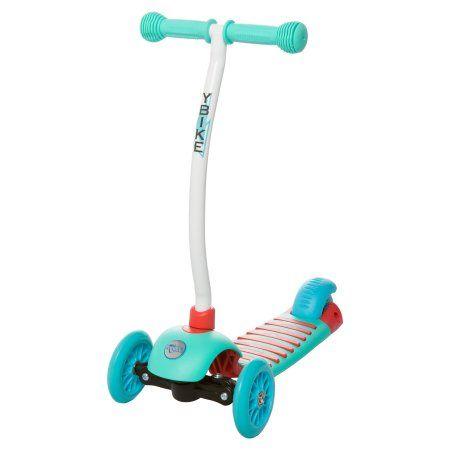 YBike GLX Cruze 3-Wheel Scooter, Turquoise, Blue