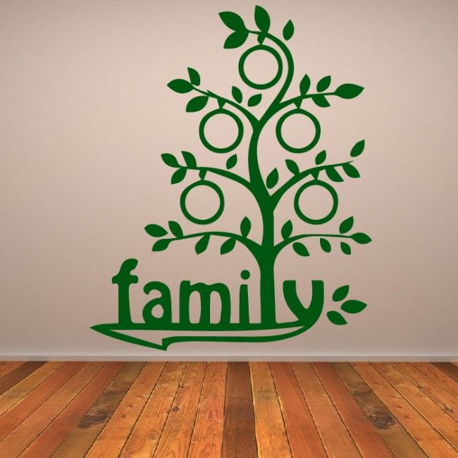 Cartoon Family Tree Wall Sticker Family Wall Art Part 70