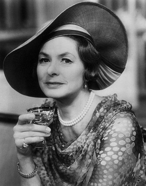 Ingrid Bergman in The Constant Wife, 1975, public domain via Wikimedia Commons.