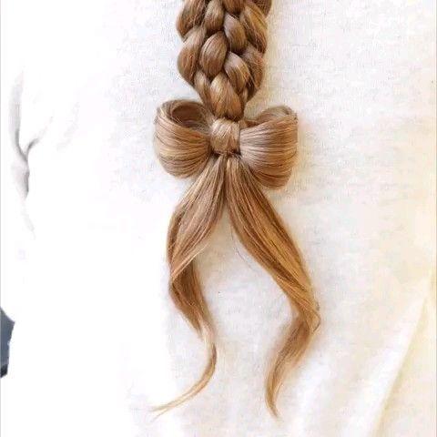 Süße Haarschleife DIY Tutorial – Frisuren