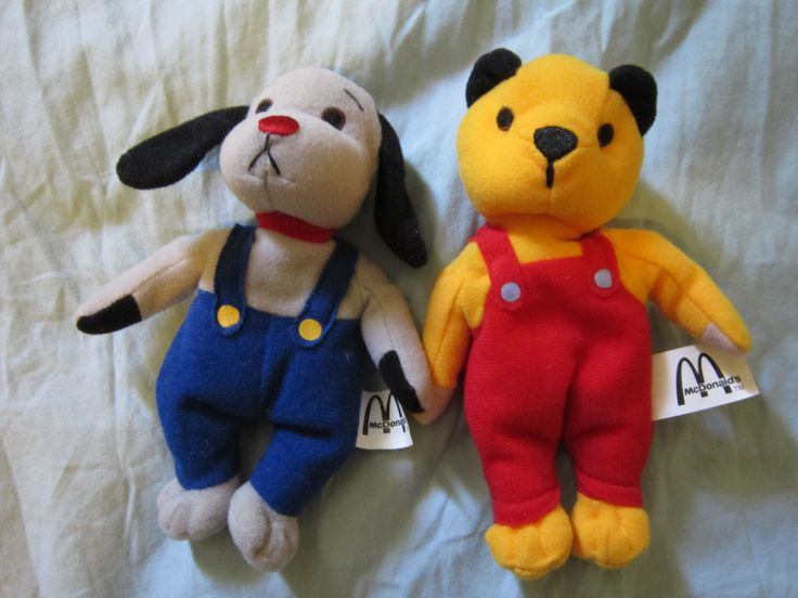 sooty and sweep beanies (mcdonald's)
