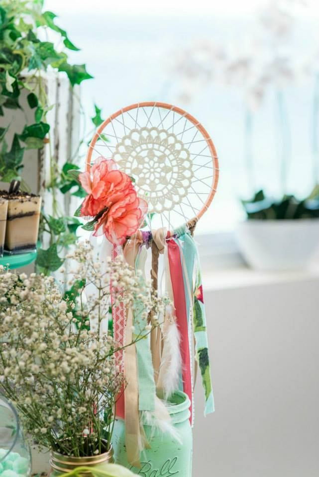 17 Best Images About Mint Coral And Gold Boho Christening