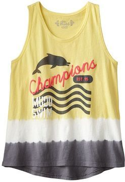 Mudd swim champions dip-dye tank - girls 7-16 on shopstyle.com