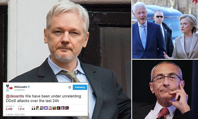 WikiLeaks says it was under 'unrelenting' cyber attack on Election Day #DailyMail | These are some of the stories. See the rest @ http://www.twodaysnewstand.com/mail-onlinecom.html or Video's @ http://www.dailymail.co.uk/video/index.html And @ https://plus.google.com/collection/wz4UXB
