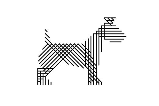 Dog icon for Russell Marsh Casting, by Mind Design (UK)