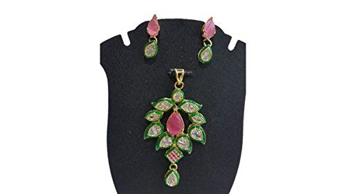 Pink & Green Stone Bollywood Inspired Gold Plated Traditi... https://www.amazon.com/dp/B01N5Y3MUM/ref=cm_sw_r_pi_dp_x_30RMyb917PAHZ