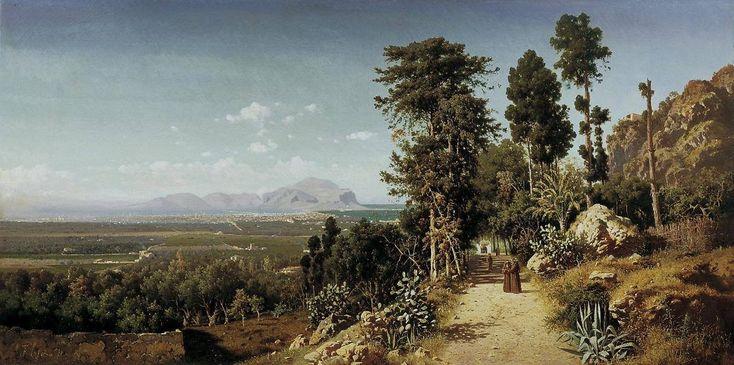 Veduta di Palermo da Santa Maria di Gesù