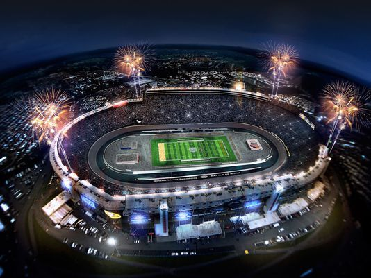 """A proposed rendering of Bristol Motor Speedway set-up for the """"Battle at Bristol"""" college football game between Virginia Tech and Tennessee on September 10, 2016. Description from usatoday.com. I searched for this on bing.com/images"""