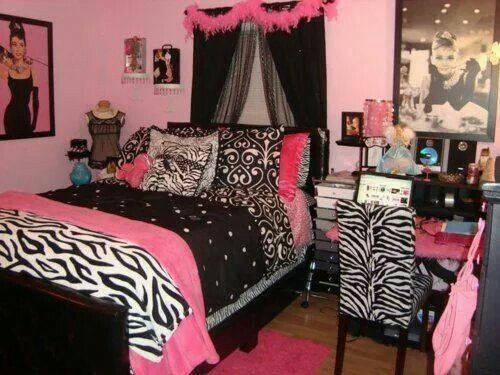 100 best girls pink bedroom images on pinterest girls for Cute zebra bedroom ideas