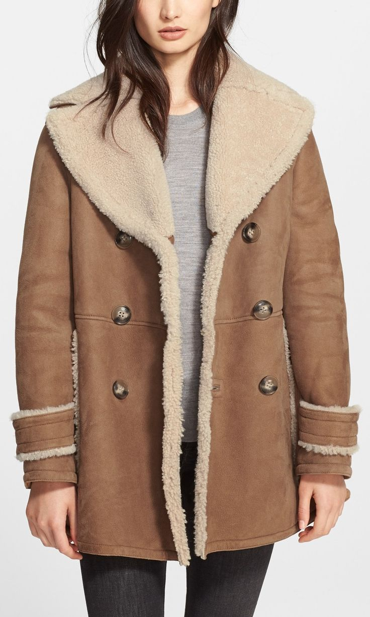 Shearling coats for women on sale