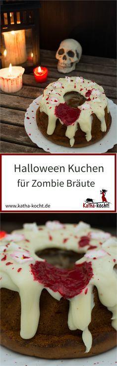 Dieser Halloween Kuchen für Zombie Bräute ist stylisches Accessoire und Partysnack in einem - gefunden auf katha-kocht!
