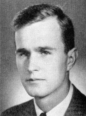 A young handsome , George Herbert Walker Bush.