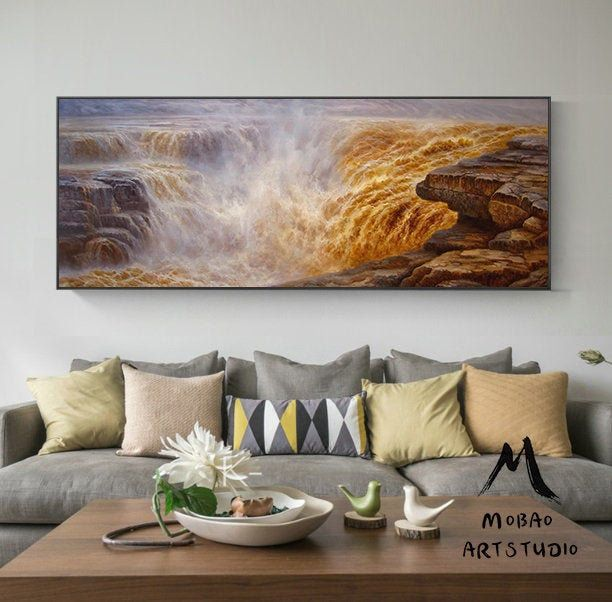47 X 110 Large Landscape Painting Extra Large Etsy Large Landscape Painting Living Room Art Extra Large Wall Art