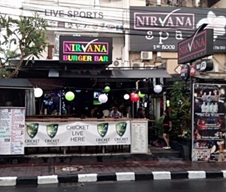 Seminyak, Bali - Bars: Nirvana Sports Bar, Jl Kayu Aya, (5min walk)