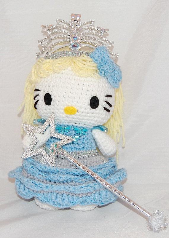 Hello Kitty Doll  Hello Kitty Glinda Crocheted with by hookmiup,