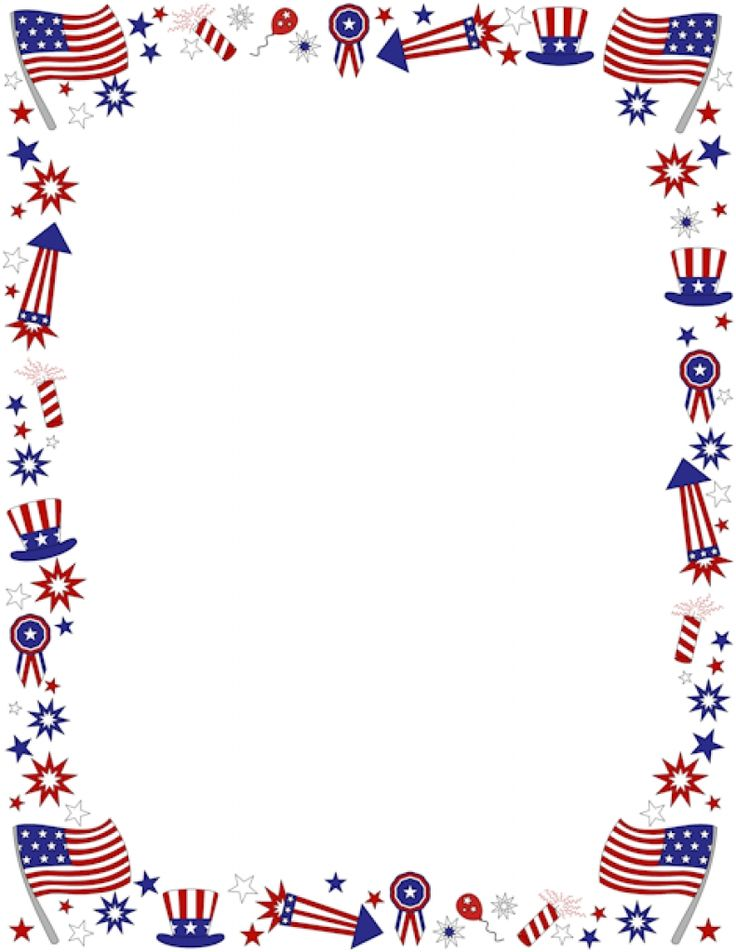 192 best Fourth of July images on Pinterest Crafts, July 4th and - downloadable page borders for microsoft word