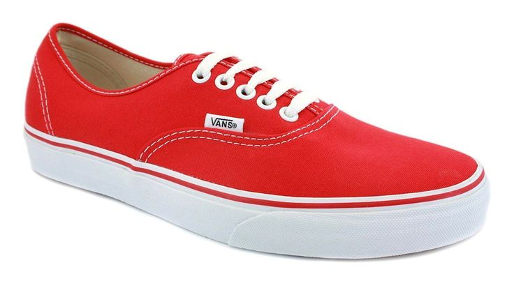 Vans Authentic Classic Red All Sizes Womens Sneakers Tennis Shoes