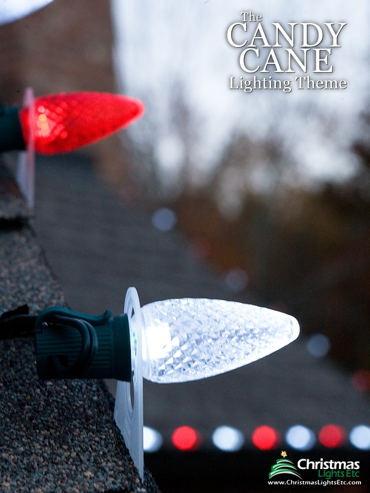 Candy Cane lights pattern for you Christmas decorations. Find more decorating ideas at Christmas Lights, Etc. http://www.christmaslightsetc.com/pages/Outdoor-Christmas-Lights-Ideas-for-Roof.htm
