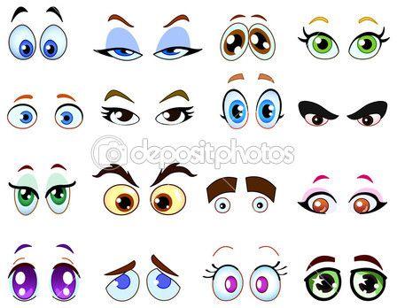 Olhos de desenho animado — Ilustração de Stock #3718179