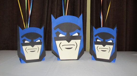 Super Hero Batman Party Centerpiece by DreamComeTrueParties