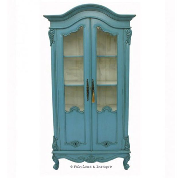 Fabulous and Baroque Amazing Teal China Cabinet