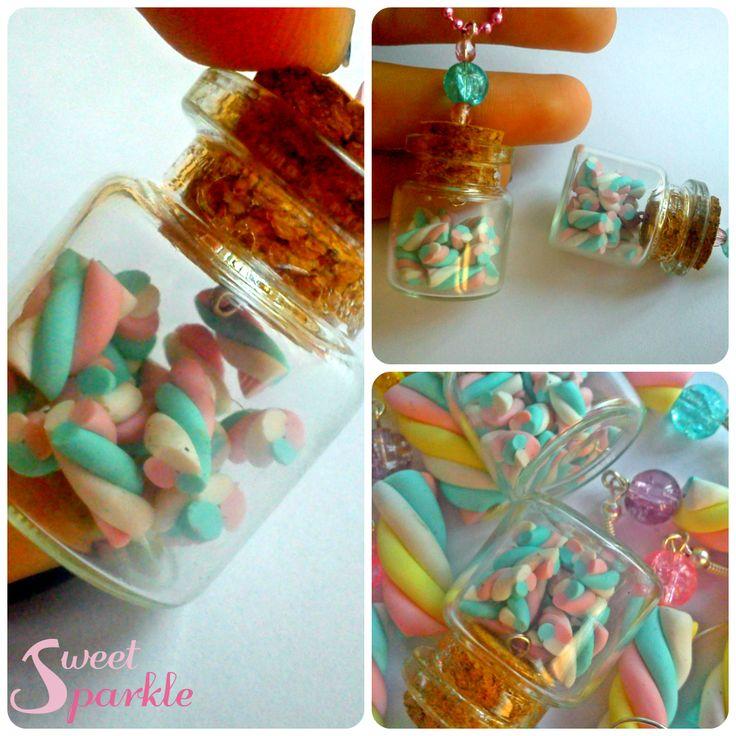 miniature bottle with tiny marshmallows