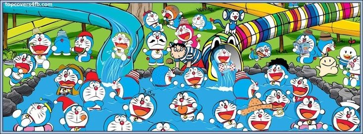Get our best Doraemon Cartoon facebook covers for you to use on your facebook profile.