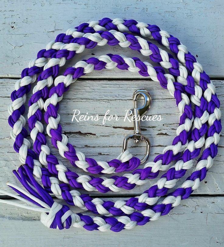 Acid Purple & White Lead Rope