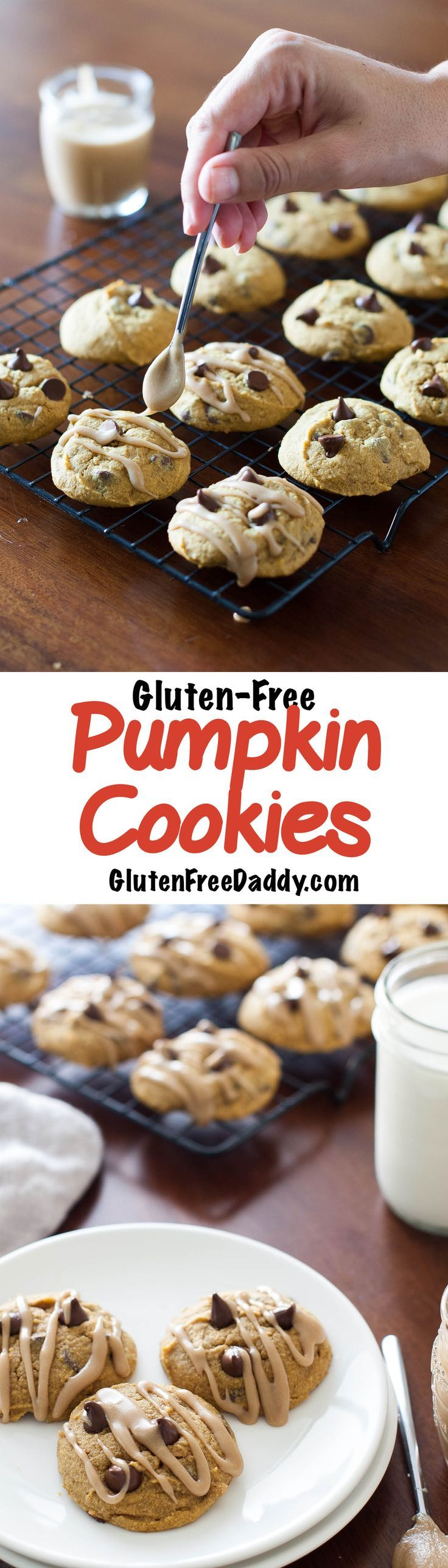 I love this gluten-free quinoa pumpkin cookies recipe with chocolate chips and Brown Sugar Icing. Sometimes I leave off the icing to make them faster and less messy or other times I leave the brown sugar icing on because it complements the nutty taste of the quinoa flour.