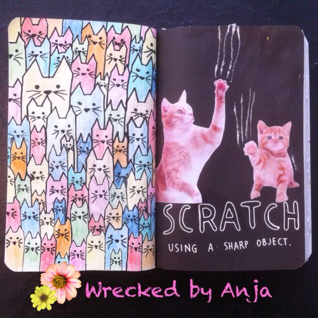 Scratch using a sharp object - Wrecked by Anja