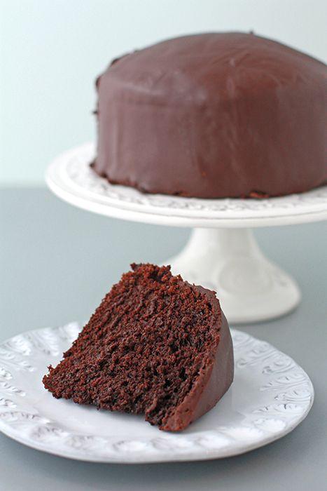 Egg-less chocolate cake with a ganache glaze | Kitchen Heals Soul