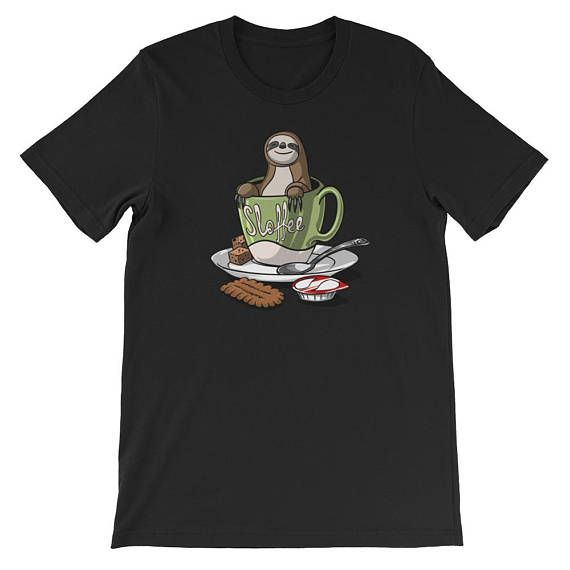 BUY NOW the latest addition to Moon Ape #etsy shop: Sloffee - Sloth Coffee Lover - Sloth Shirt - Coffee Shirt - Sloth Lover - Coffee Addict - Funny Sloth - Coffee Clothes - Sloth Gifts #slothshirt #slothlover #coffeeshirt #coffeelover #moonapetees