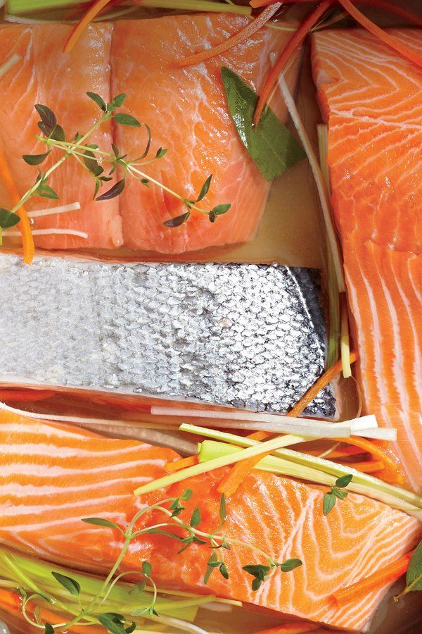 Poached Salmon Fillets Recipe Cooking Poached Salmon Fillet Food