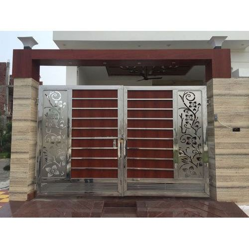 Stainless Steel HPL Sheet Gate