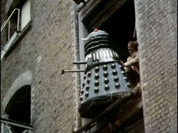 """Hey guys I thought you might enjoy this gif of the 5th doctor pushing a dalek out the window. ""/ ""Immune to nearly every weapon humans have built... Except second stories."" // ""Quite possible the most epic Doctor Who gif I have ever seen."" // I love this."