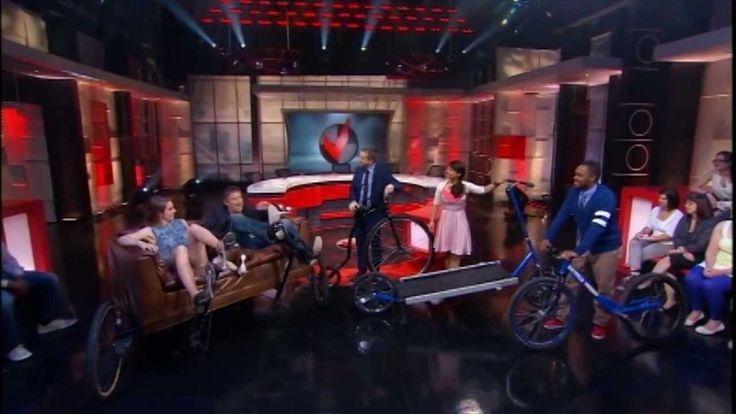Crazy bicycles on Quebec TV.