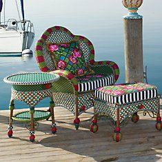 75 best mackenzie childs so whimsical images on for Funky garden furniture designs