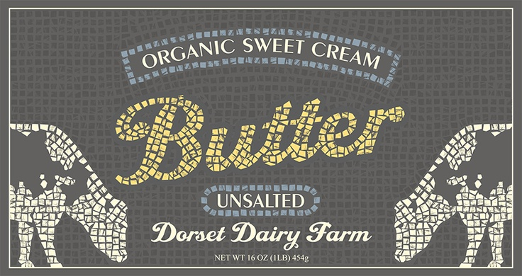 A package design for butter.  I thought that the mosaic feel would give it hand made organic feel to the product.
