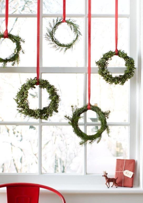 北欧インテリア窓クリスマス
