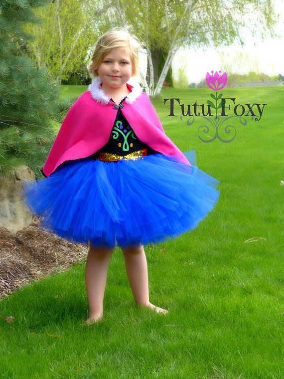 Anna Tutu Dress Anna Costume Frozen Costume Anna Dress