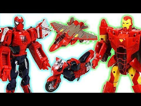 Run! Marvel Mashers micro Hulk, Spier Man, Iron Man, Captain America super cars! - DuDuPopTOY - YouTube