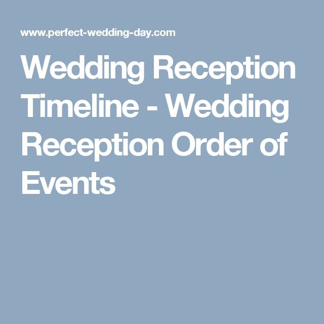 Wedding Reception Timeline Wedding Reception Order Of Events