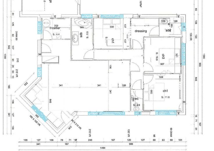 1000 ideas about plain pied on pinterest maison de plain pied house plans and plan maison - Plan maison 110m2 plain pied ...