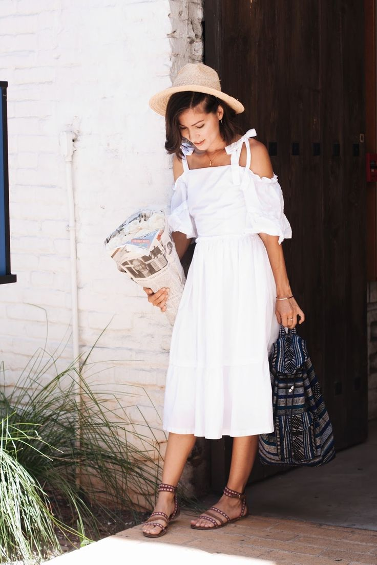 Exploring Placita Olvera Street + OTS White Dress