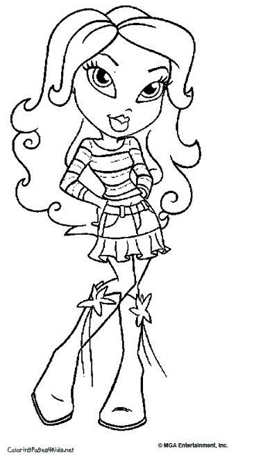 Bratz Coloring Page   Moxie Girlz & Bratz ~ Coloring Pages ...
