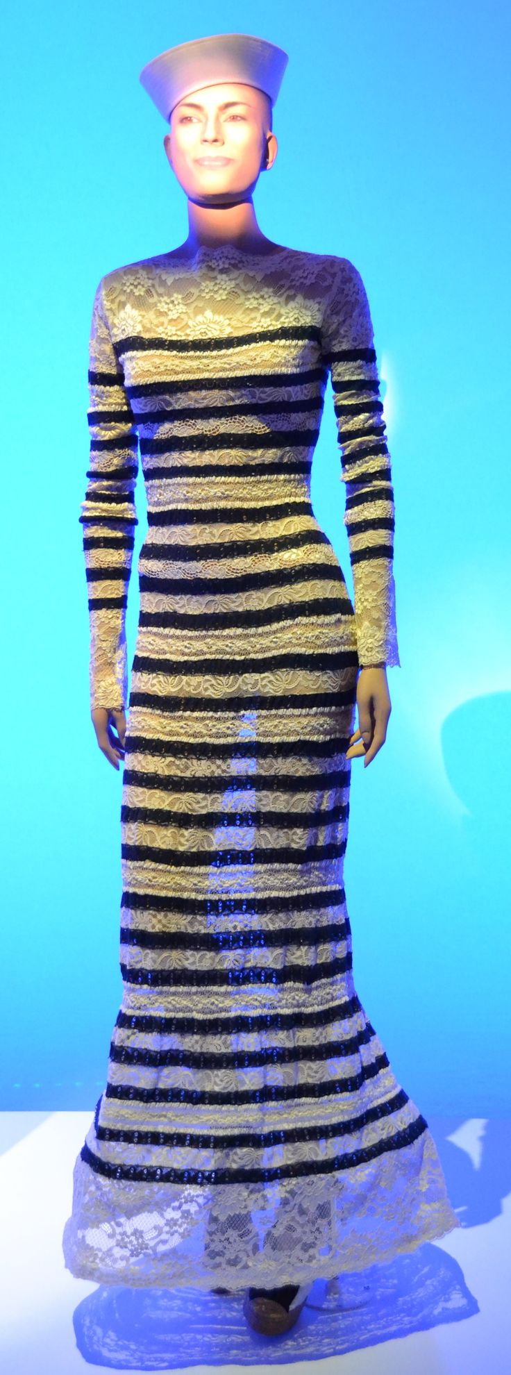 Gaultier Striped Lace Dress